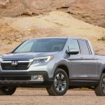 2017 Honda Ridgeline front three quarters left side second image