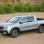 2017 Honda Ridgeline front three quarters left side third image