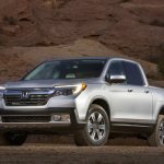 2017 Honda Ridgeline front three quarters