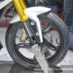 BMW G310R alloy wheel at Auto Expo 2016
