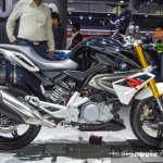 BMW G310R black side at Auto Expo 2016