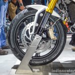 BMW G310R front wheel disc brake at Auto Expo 2016