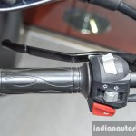 BMW G310R handlebar switchgear left at Auto Expo 2016
