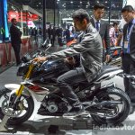 BMW G310R riding position at Auto Expo 2016