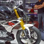 BMW G310R upside down fork at Auto Expo 2016