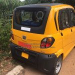 Bajaj Qute rear three quarter snapped testing in Trivandrum