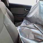 Hyundai Elantra facelift front cabin spotted in China