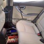 Hyundai Elantra facelift rear cabin spotted in China