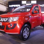 Mahindra Imperio front quarter red single cab