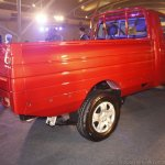 Mahindra Imperio rear quarter red single cab