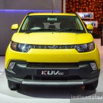 Mahindra KUV100 Yellow front at Auto Expo 2016