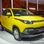 Mahindra KUV100 Yellow front quarter at Auto Expo 2016