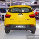 Mahindra KUV100 Yellow rear at Auto Expo 2016