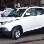 Mahindra KUV100 front quarter revealed spied