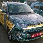 Mahindra KUV100 front quarter spyshot