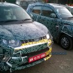 Mahindra KUV100 grille spyshot