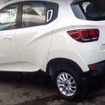 Mahindra KUV100 rear quarter revealed spied