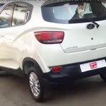 Mahindra KUV100 rear revealed spied