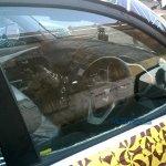 Mahindra KUV100 steering wheel spyshot