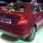 Maruti Swift Dzire Auto Gear Shift rear three quarters at Auto Expo 2016