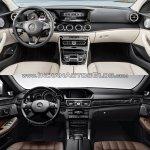 Mercedes E Class (W213) vs Mercedes E Class (W212) interior Old vs New