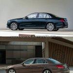 Mercedes E Class (W213) vs Mercedes E Class (W212) side (1) Old vs New
