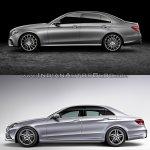 Mercedes E Class (W213) vs Mercedes E Class (W212) side Old vs New