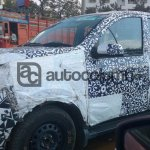 New Mahindra Canto Quanto facelift side camouflaged spyshot