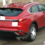 Red Mazda CX-4 rear spyshot
