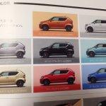Suzuki Ignis brochure scans color options surface