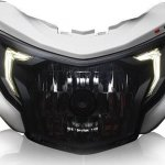 TVS Apache RTR 200 4V headlamp LED DRL leaked