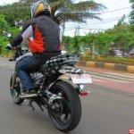 TVS Apache RTR 200 4V rear quarter new spyshots in Indonesia