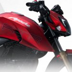 TVS Apache RTR 200 4V red leaked