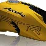 TVS Apache RTR 200 4V yellow fuel tank leaked