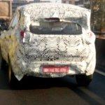 Tata Nexon rear three quarter snapped up close