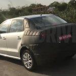 VW Ameo rear quarter spied