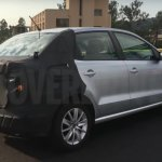 VW Ameo rear three quarter spied