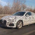 2016 Audi A5 front three quarters spy shot