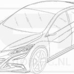 2016 Honda Civic hatchback front leaked patent drawings