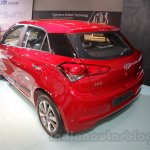 2016 Hyundai i20 rear three quarters at the Auto Expo 2016