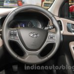2016 Hyundai i20 steering wheel at the Auto Expo 2016
