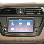 2016 Hyundai i20 touchscreen infotainment system at the Auto Expo 2016