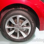 2016 Hyundai i20 wheel at the Auto Expo 2016