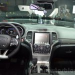 2016 Jeep Grand Cherokee SRT Night dashboard at the Geneva Motor Show Live