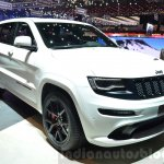 2016 Jeep Grand Cherokee SRT Night front three quarter at the Geneva Motor Show Live