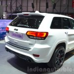 2016 Jeep Grand Cherokee SRT Night rear three quarter at the Geneva Motor Show Live