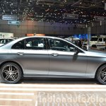 2016 Mercedes E Class (W213) side at the Geneva Motor Show Live