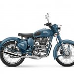 2016 Royal Enfield Classic 500 Squadron Blue side launched