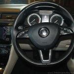 2016 Skoda Superb steering wheel launched in India