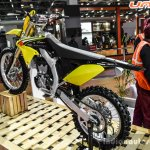 2016 Suzuki RM-Z250 rear quarter at Auto Expo 2016